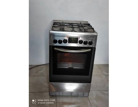 MASTERCOOK KGE 3415SX DYN-f760 Газовая плита с электродуховкой 50*60 б/у Гарантия 6 мес